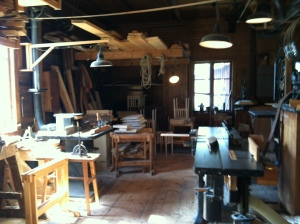 Furniture making shop from 1920's