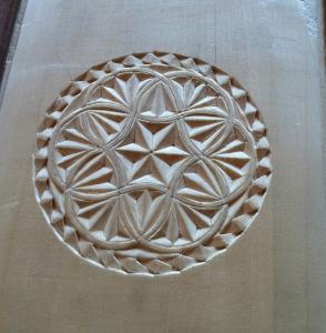 Hand carved Nordic design
