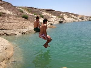 Swimming at Lake Powell