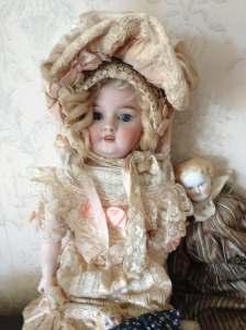 Doll in cottage, common to that time period.
