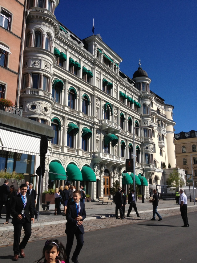 The Grand Hotel where Obama made his speech