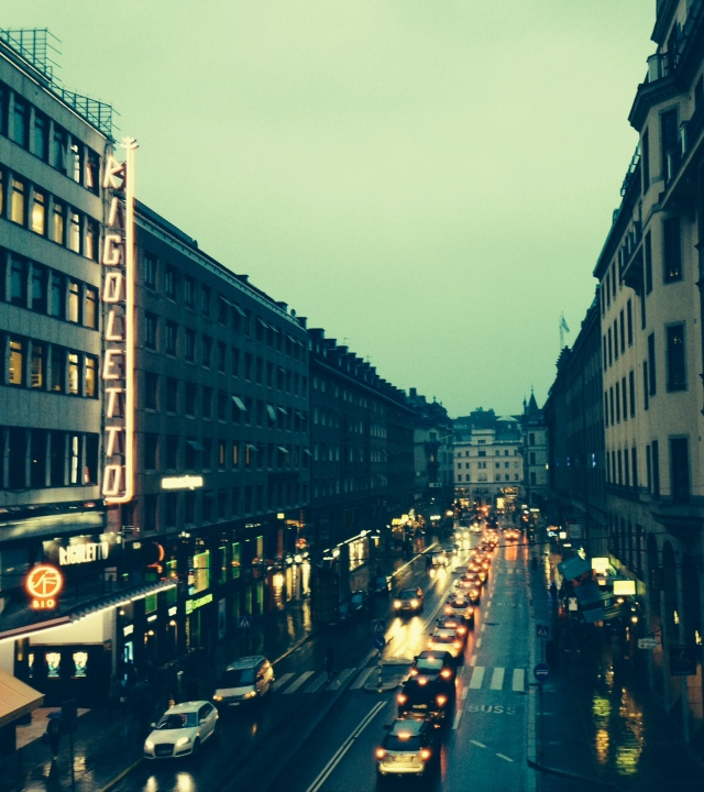 Downtown Stockholm on an Early Afternoon in November