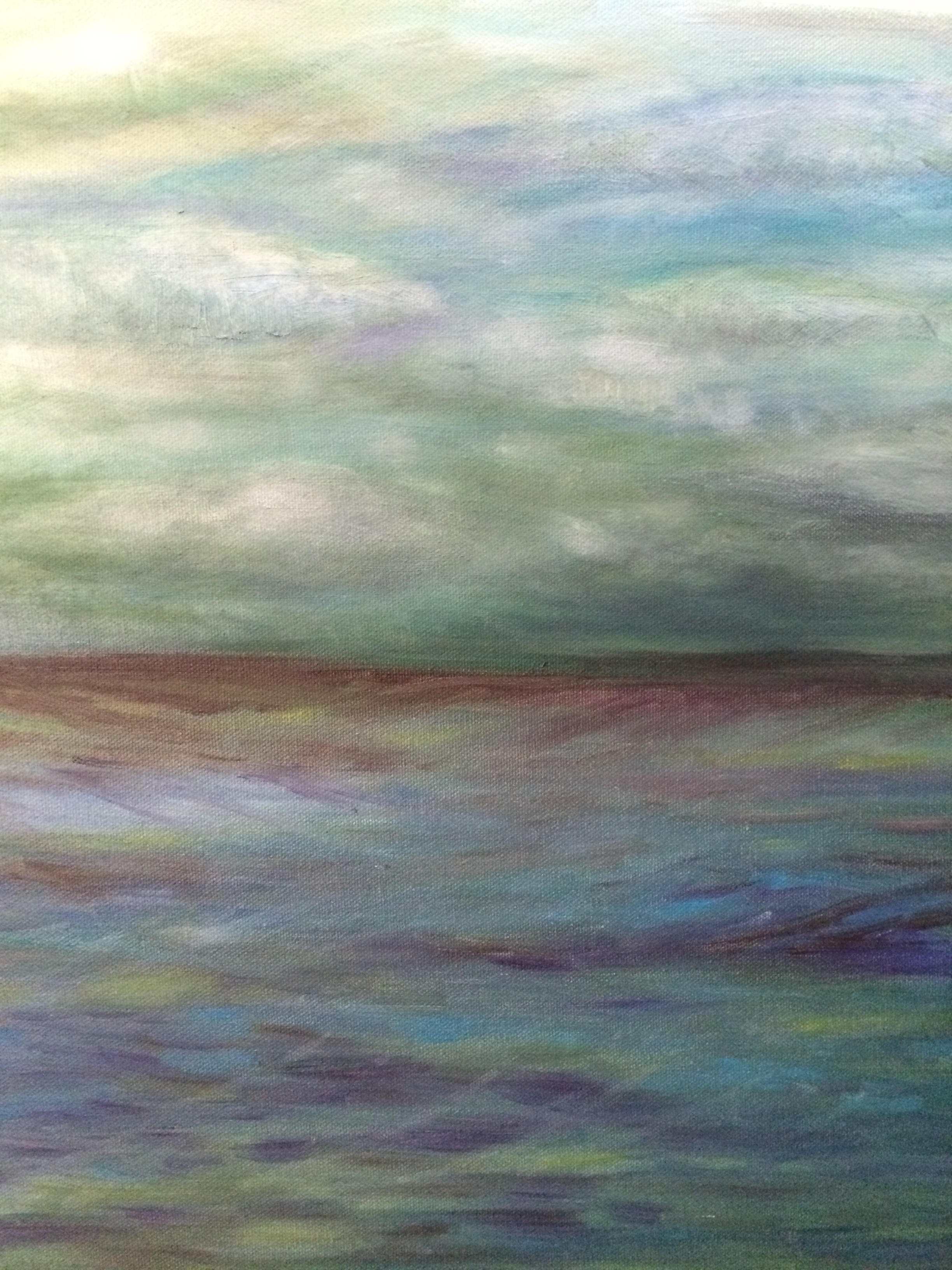Distant Shore, oil painting, Lana Wimmer